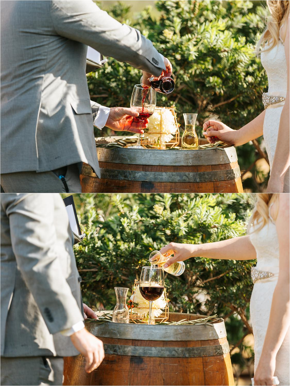 Wine Ceremony in San Diego County - https://brittneyhannonphotography.com