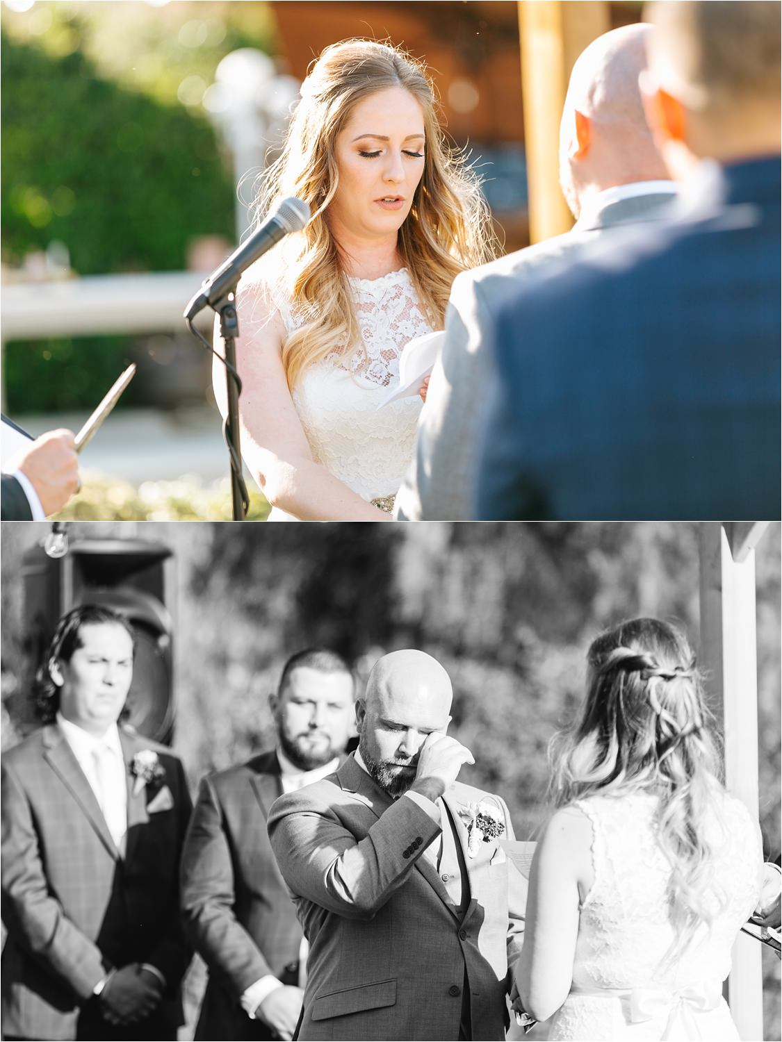 Emotional wedding vows during the wedding ceremony - https://brittneyhannonphotography.com