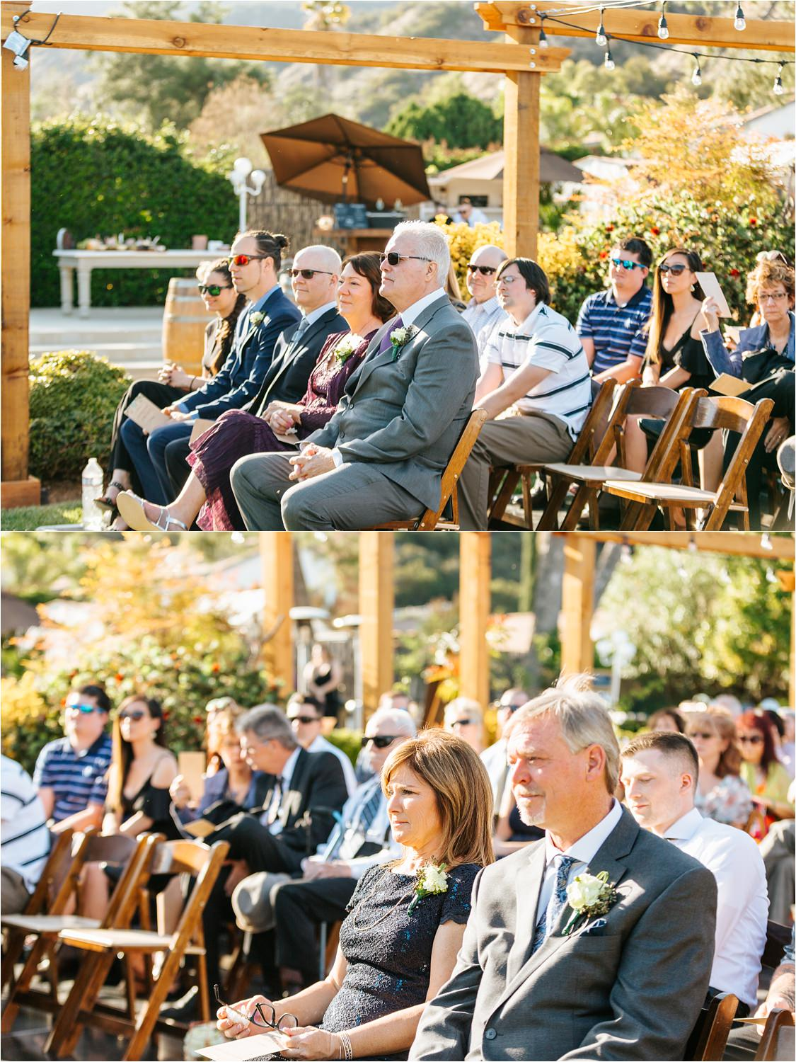 Parents of the Bride and Groom during the Wedding Ceremony - https://brittneyhannonphotography.com