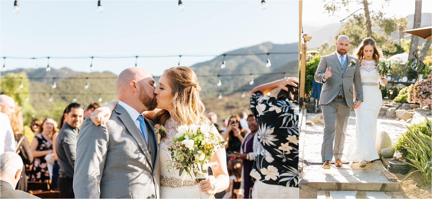 Bride and Groom kiss at the end of the aisle - https://brittneyhannonphotography.com