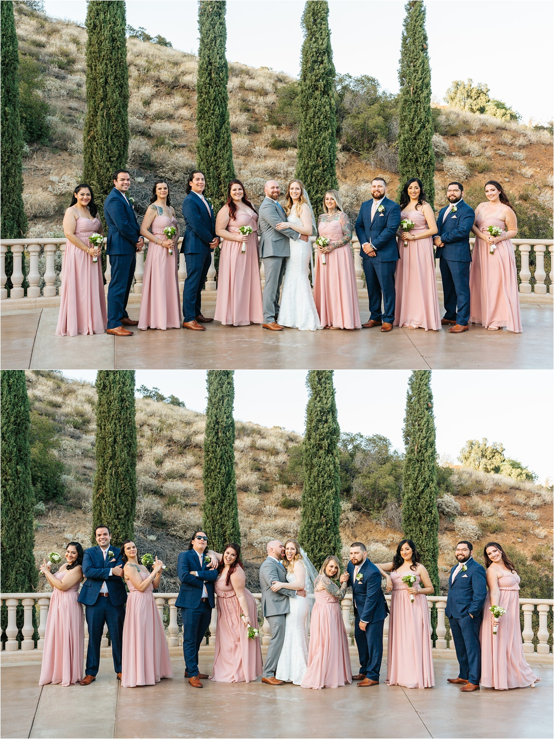 Wedding Party Photos - Bridesmaids and Groomsmen with the Bride and Groom - https://brittneyhannonphotography.com