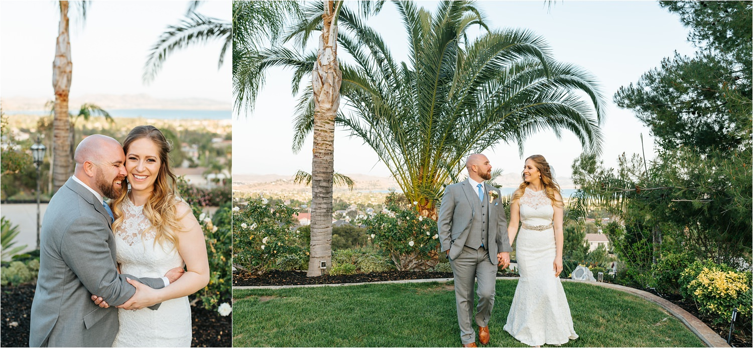 Lake Elsinore Wedding - Elegant Backyard Wedding - https://brittneyhannonphotography.com