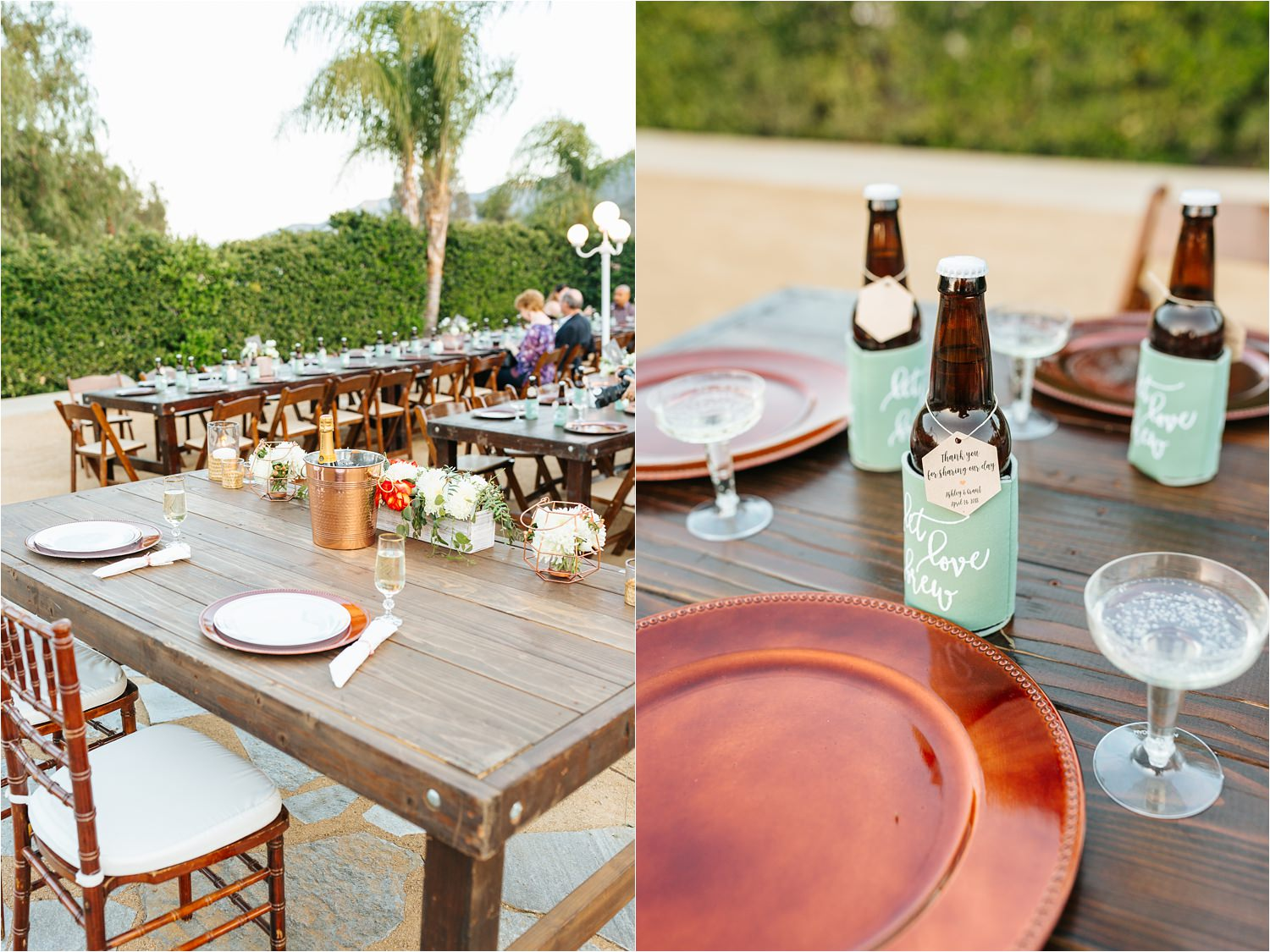 Dreamy Backyard Wedding Reception Details - https://brittneyhannonphotography.com