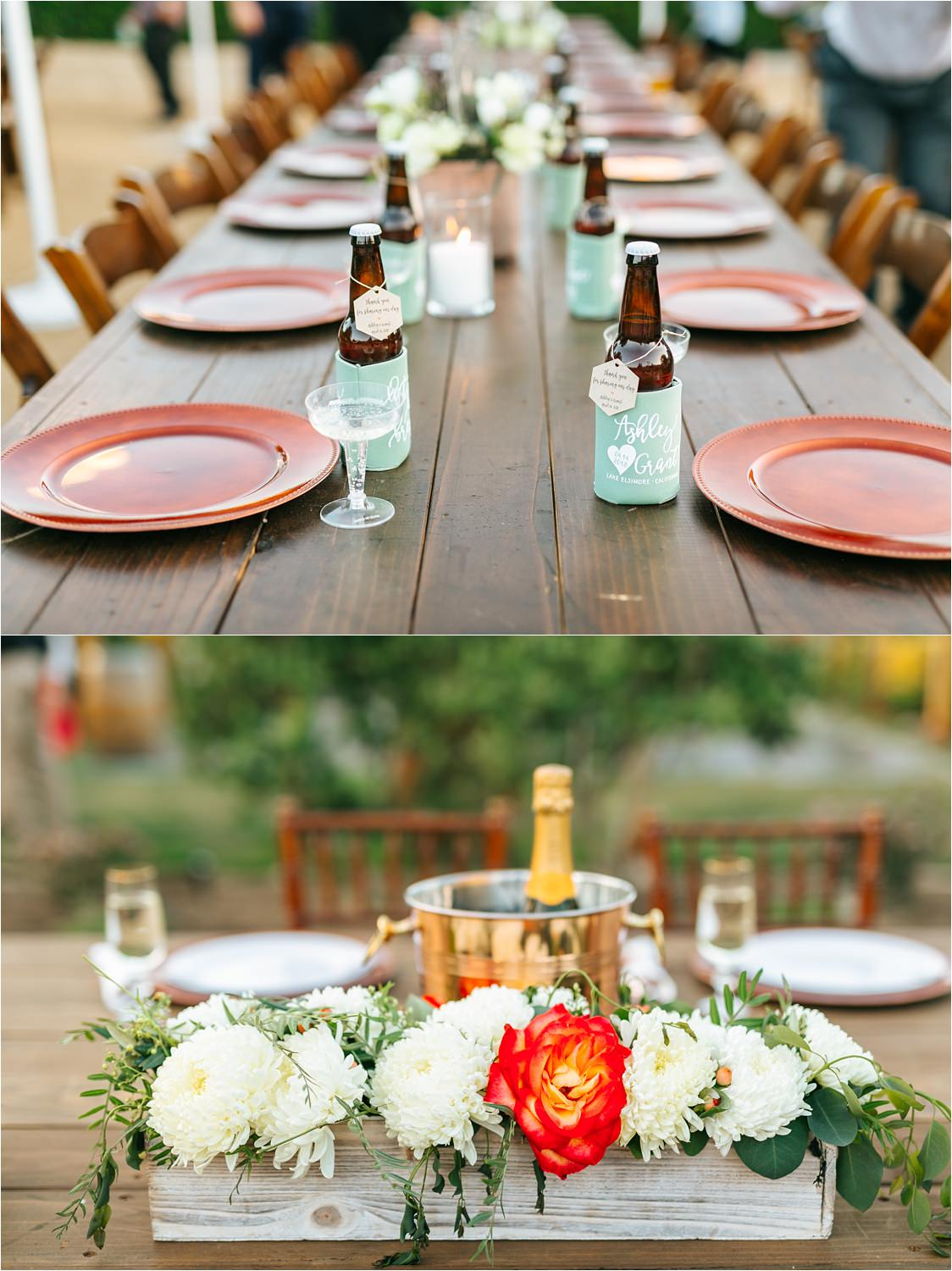Wedding Reception Details - Backyard Wedding Inspiration - https://brittneyhannonphotography.com
