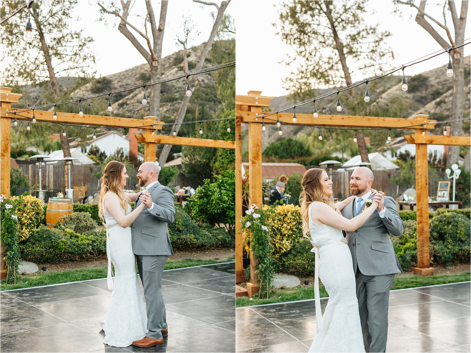 Romantic first dance between bride and groom - https://brittneyhannonphotography.com