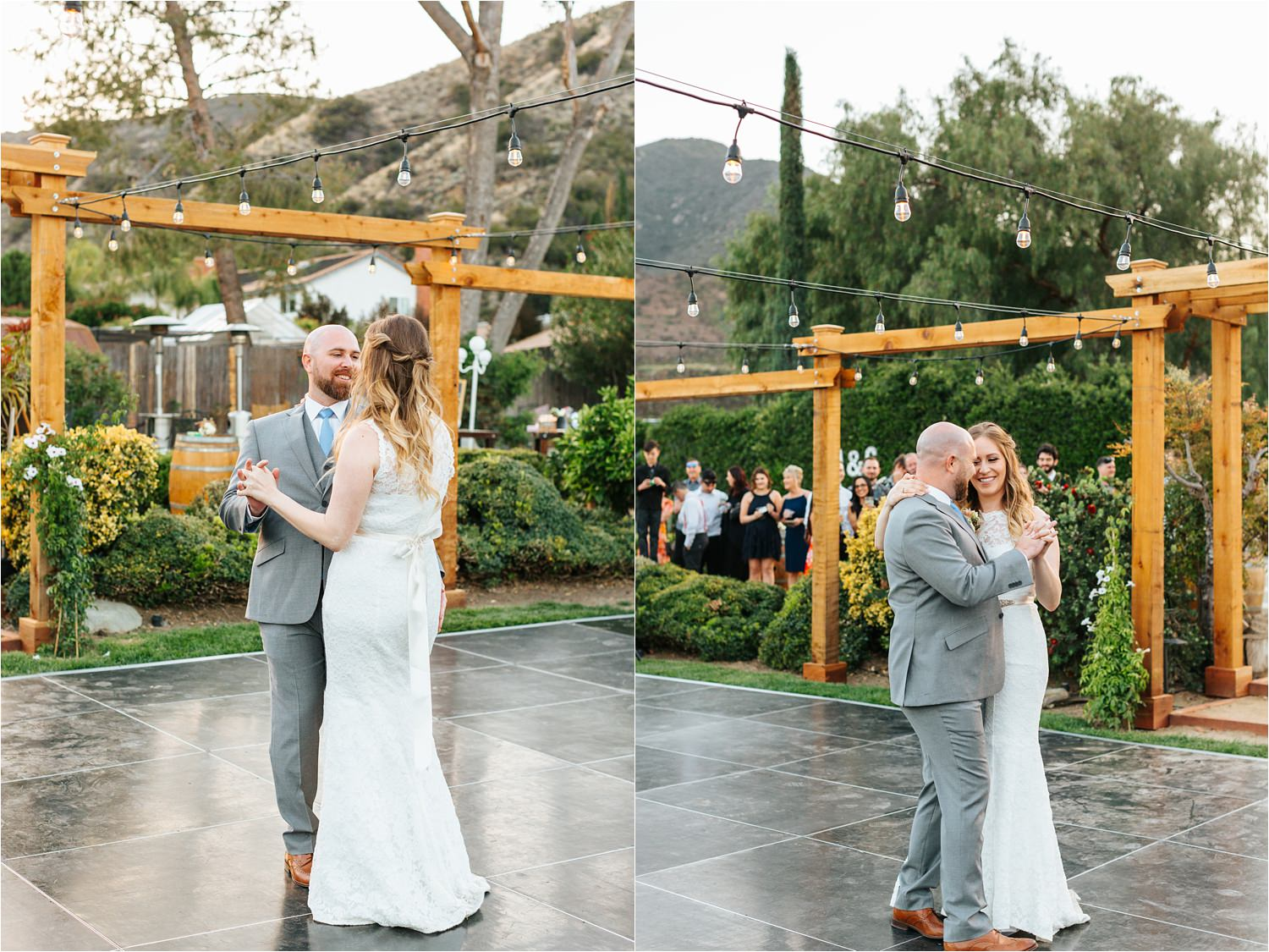 Super sweet first dance between bride and groom - https://brittneyhannonphotography.com