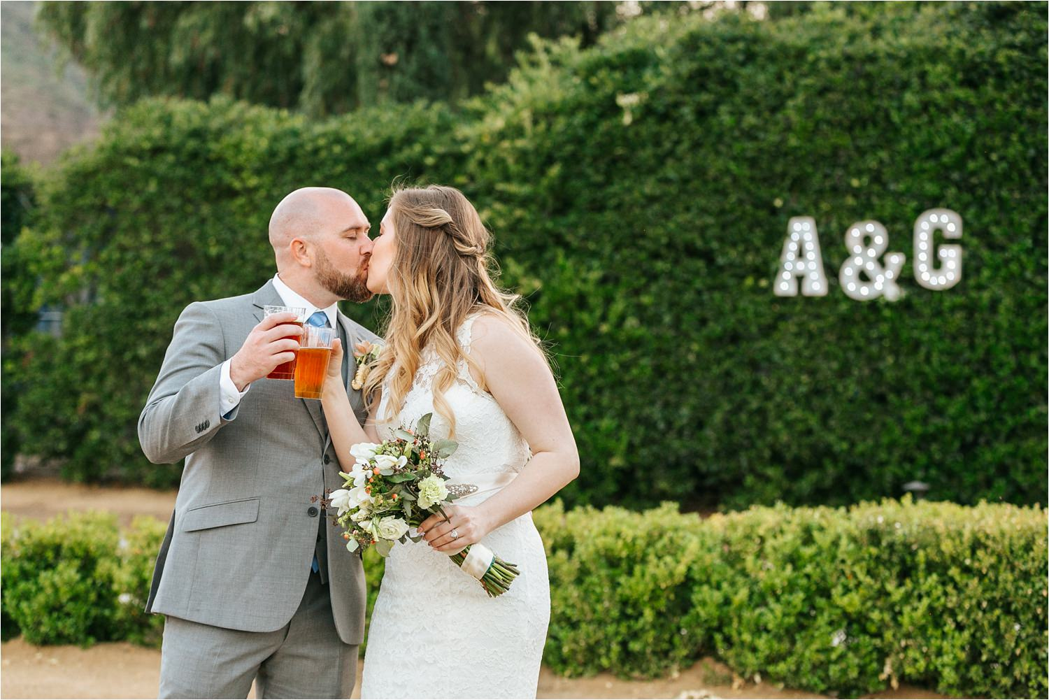 Bride and Groom Photos in California - Backyard Wedding - https://brittneyhannonphotography.com
