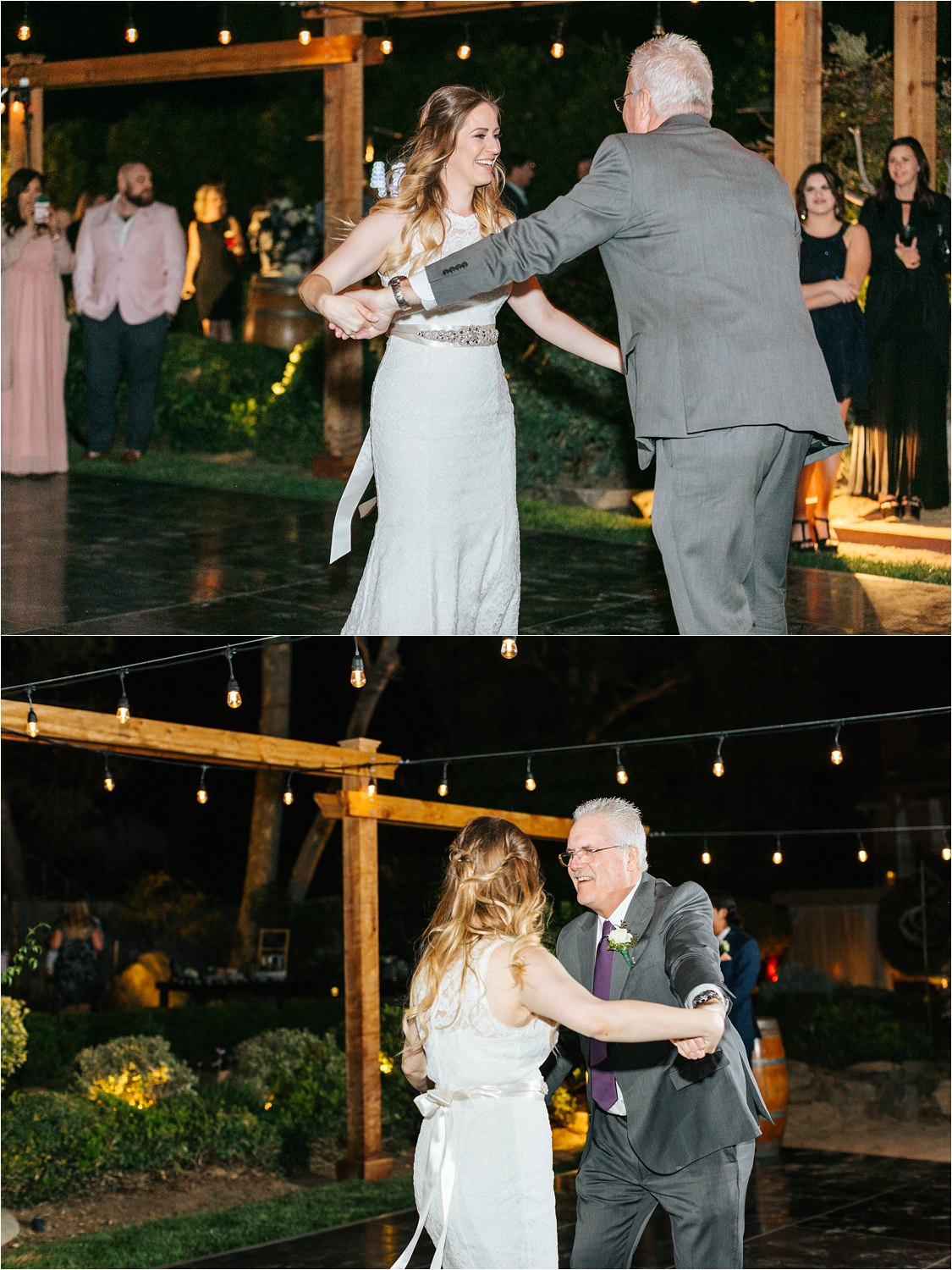 Bride dances with her dad - https://brittneyhannonphotography.com