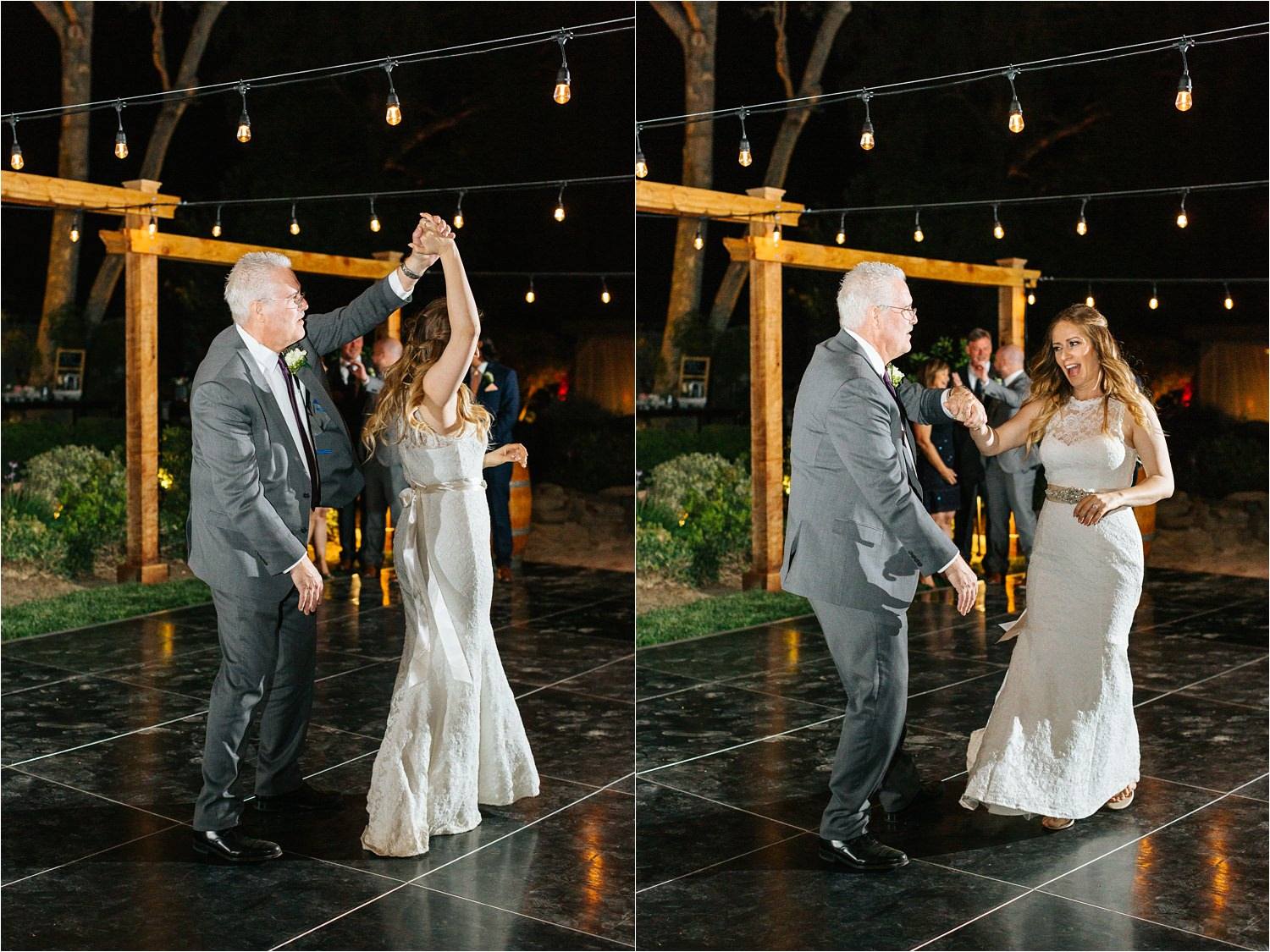Bride and Dad during Father Daughter dance - https://brittneyhannonphotography.com