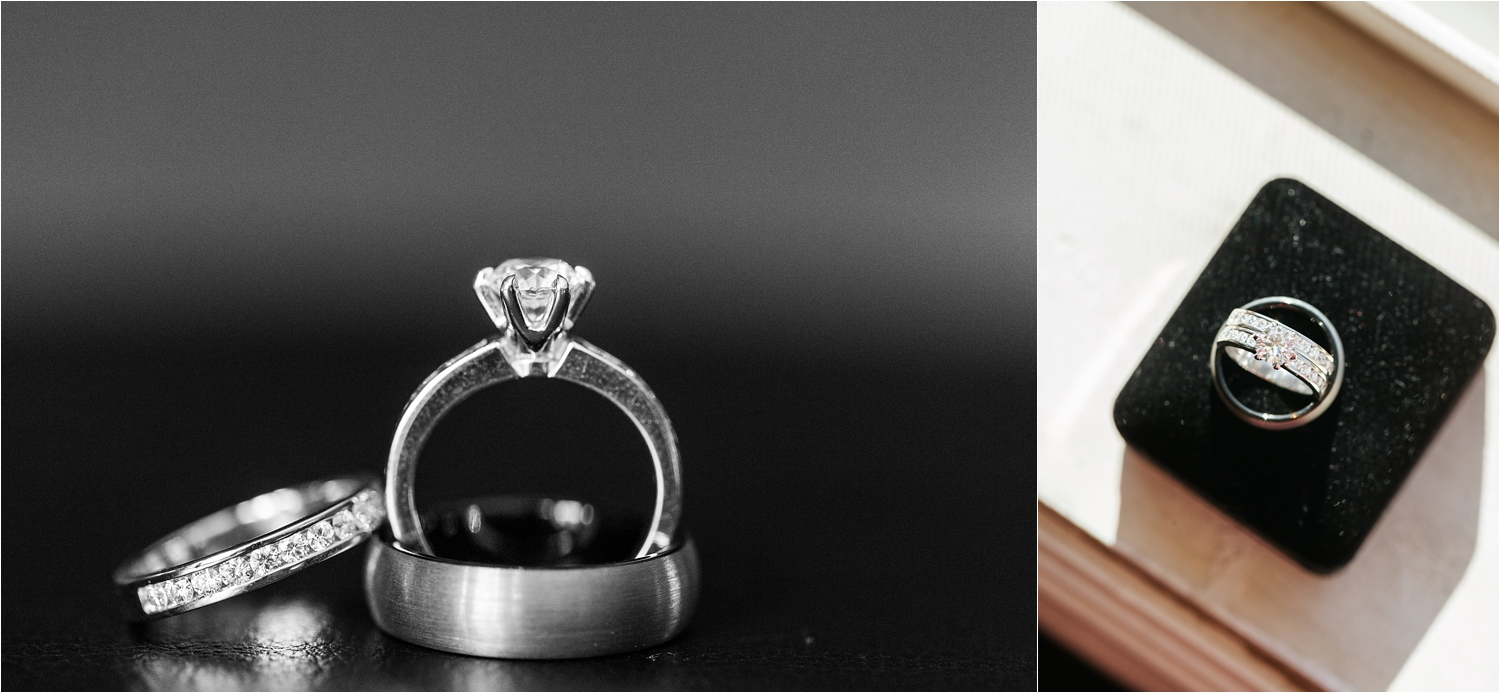 Bride and Groom Wedding Rings - https://brittneyhannonphotography.com