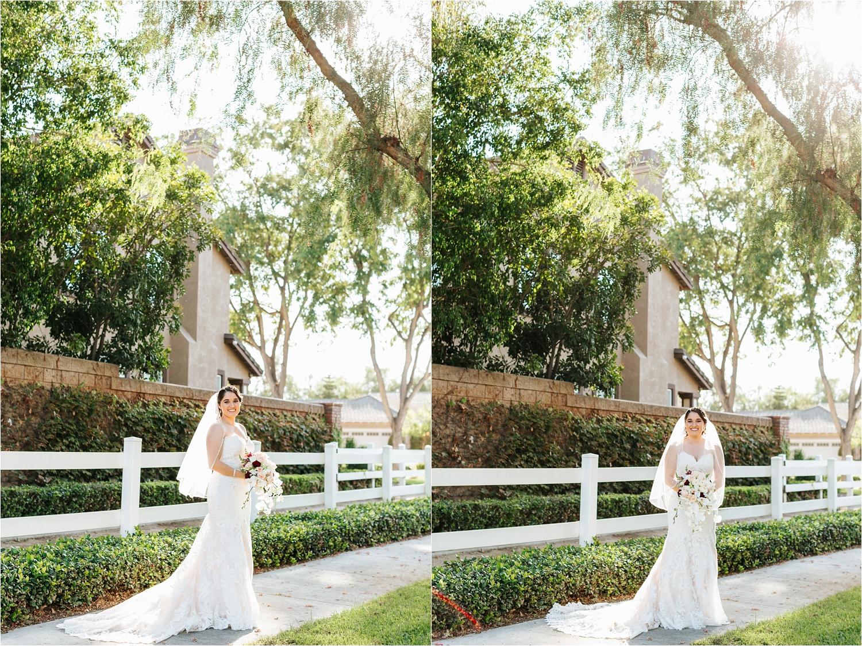 Natural Light Wedding Photographer - Bride Portraits in her Wedding Dress - California Wedding Photographer - https://brittneyhannonphotography.com