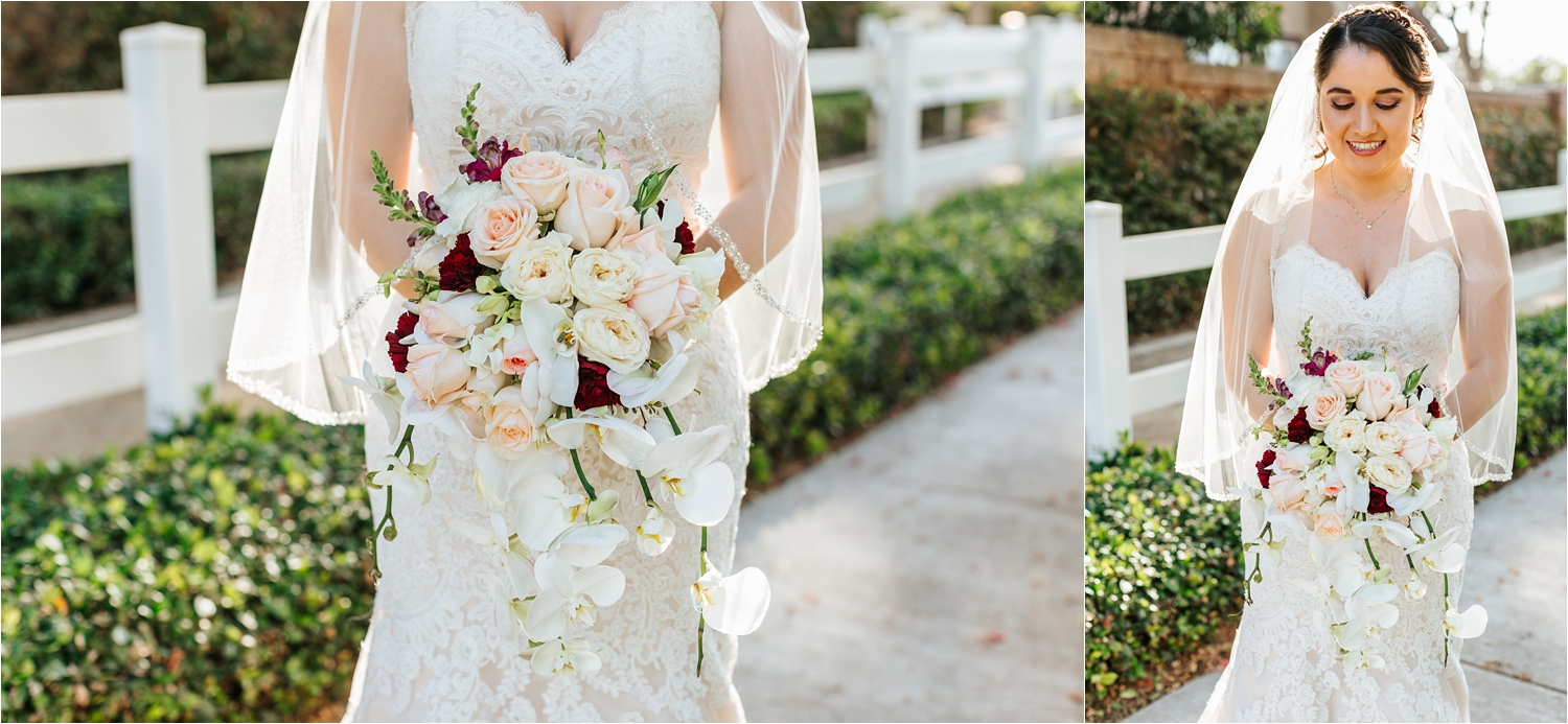 Bride and her Bridal bouquet - https://brittneyhannonphotography.com