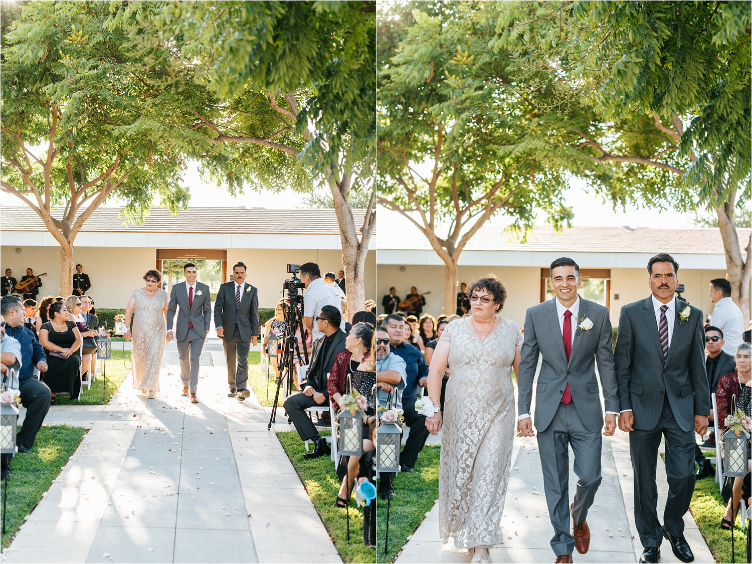 Groom walking down the aisle in wedding ceremony - https://brittneyhannonphotography.com