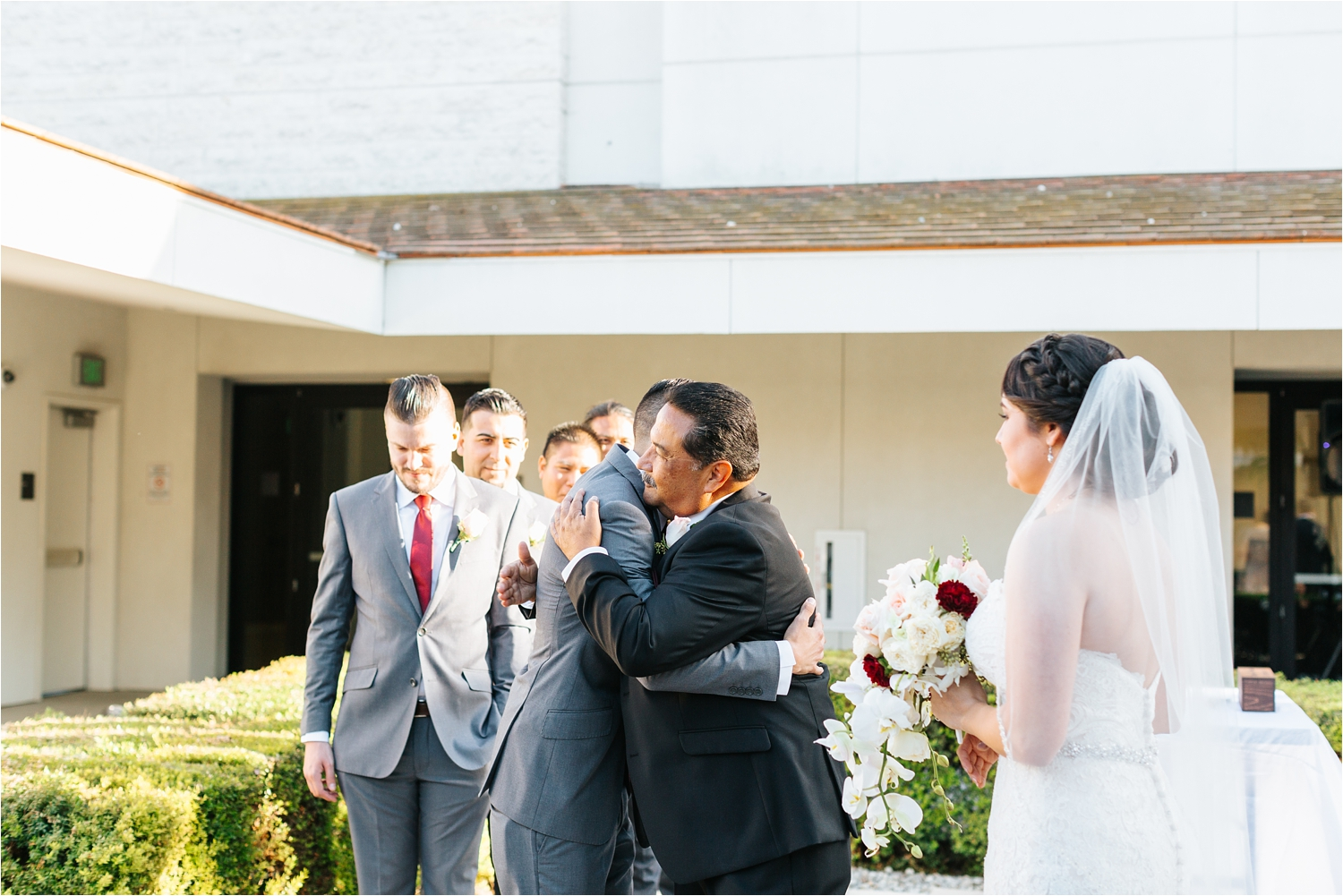Dad gives away his daughter to the Groom - https://brittneyhannonphotography.com