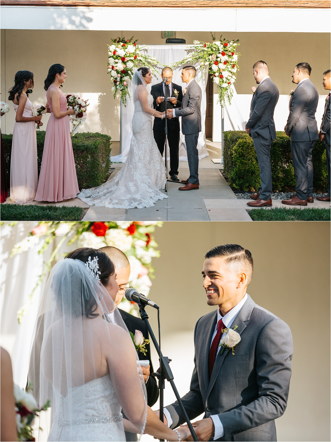 Bride and Groom saying vows - https://brittneyhannonphotography.com