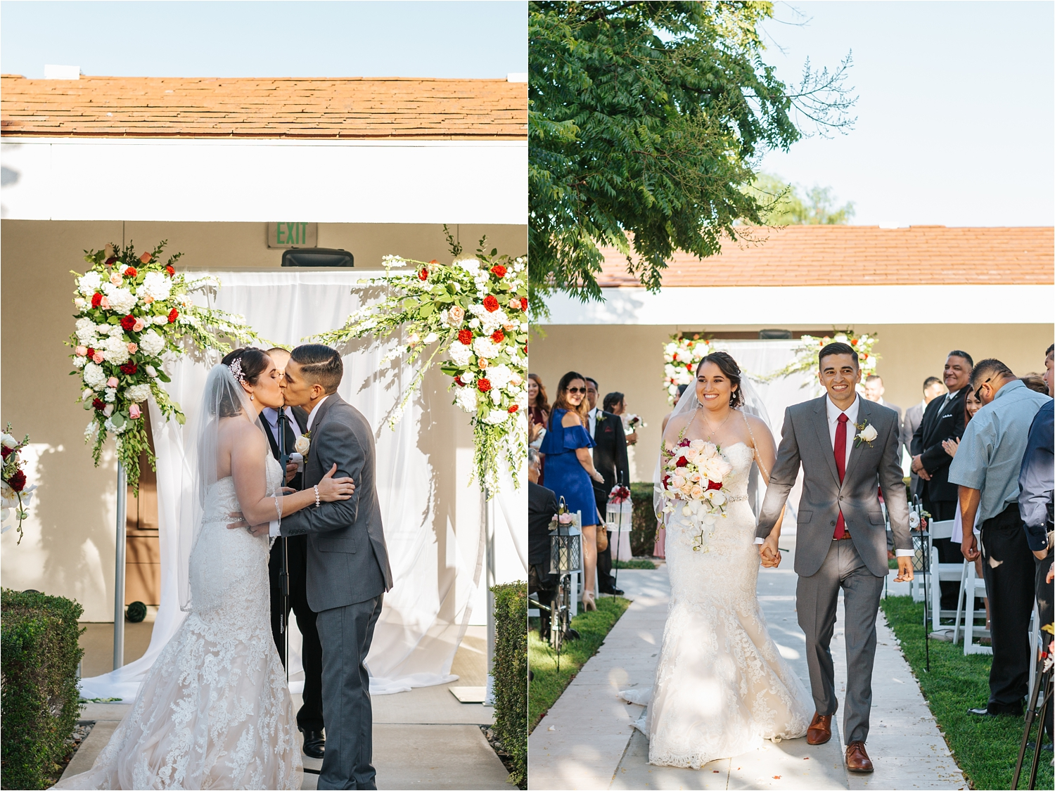Just Married! Wedding Ceremony at Chaffey College - https://brittneyhannonphotography.com