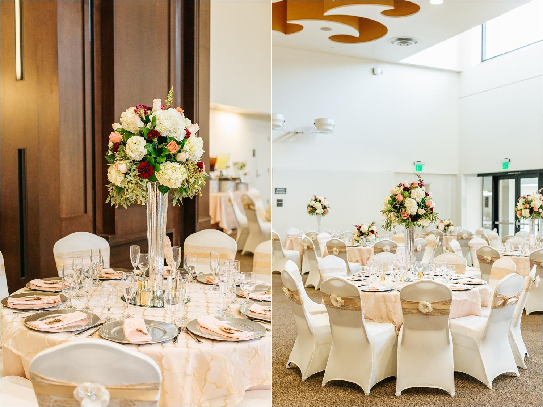 Wedding Reception Table Set Up - Centerpiece Inspiration - https://brittneyhannonphotography.com