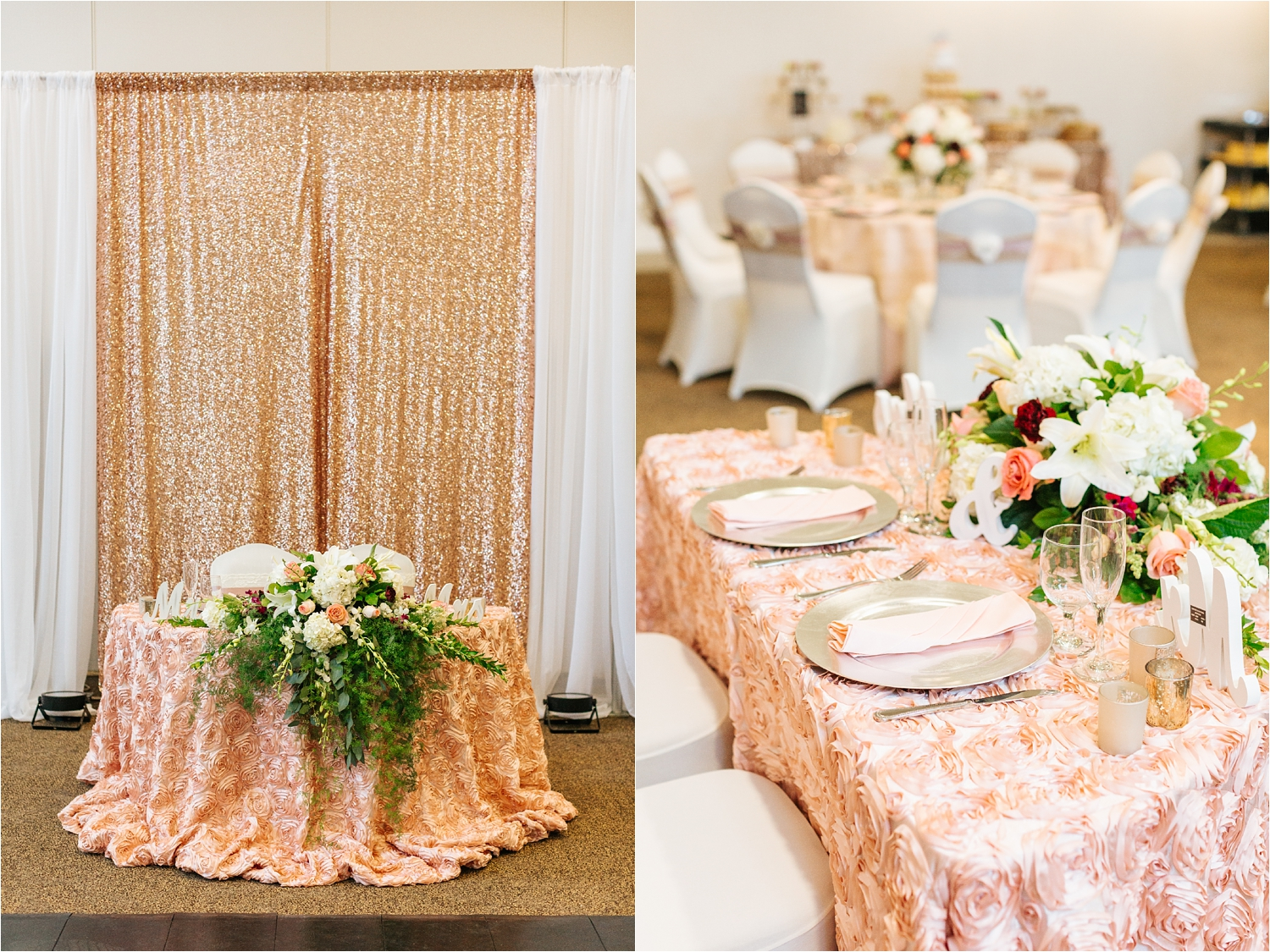 Bride and Groom Sweetheart Table - California Wedding - https://brittneyhannonphotography.com