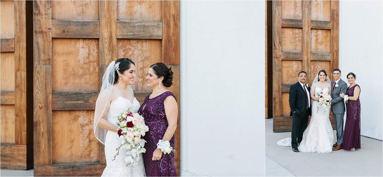 Family Photos at Wedding - Chino, CA - Chaffey College Wedding - https://brittneyhannonphotography.com