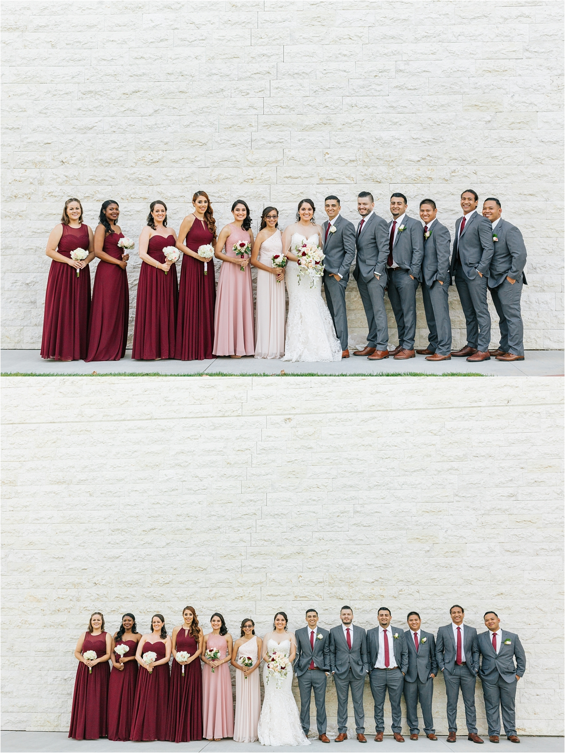 Wedding Party Photos - Bride and Groom with Bridesmaids and Groomsmen - https://brittneyhannonphotography.com