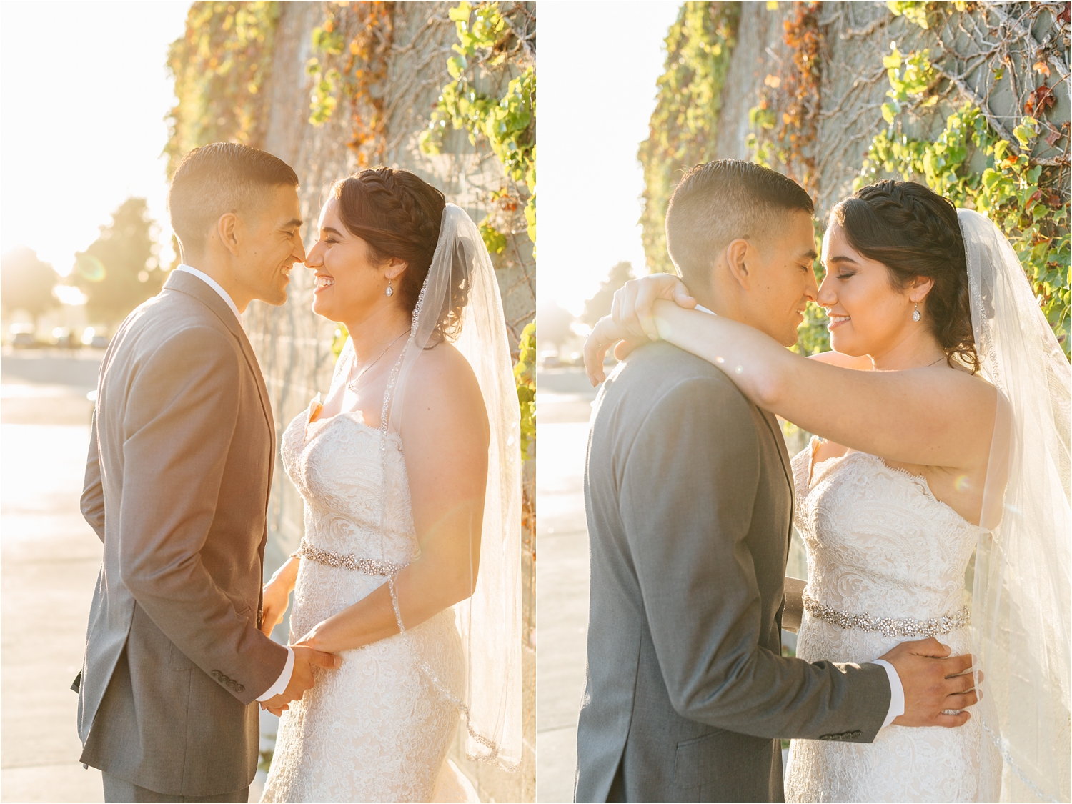 Sweet and Romantic Bride and Groom Photos - Beautiful Wedding Photography - https://brittneyhannonphotography.com