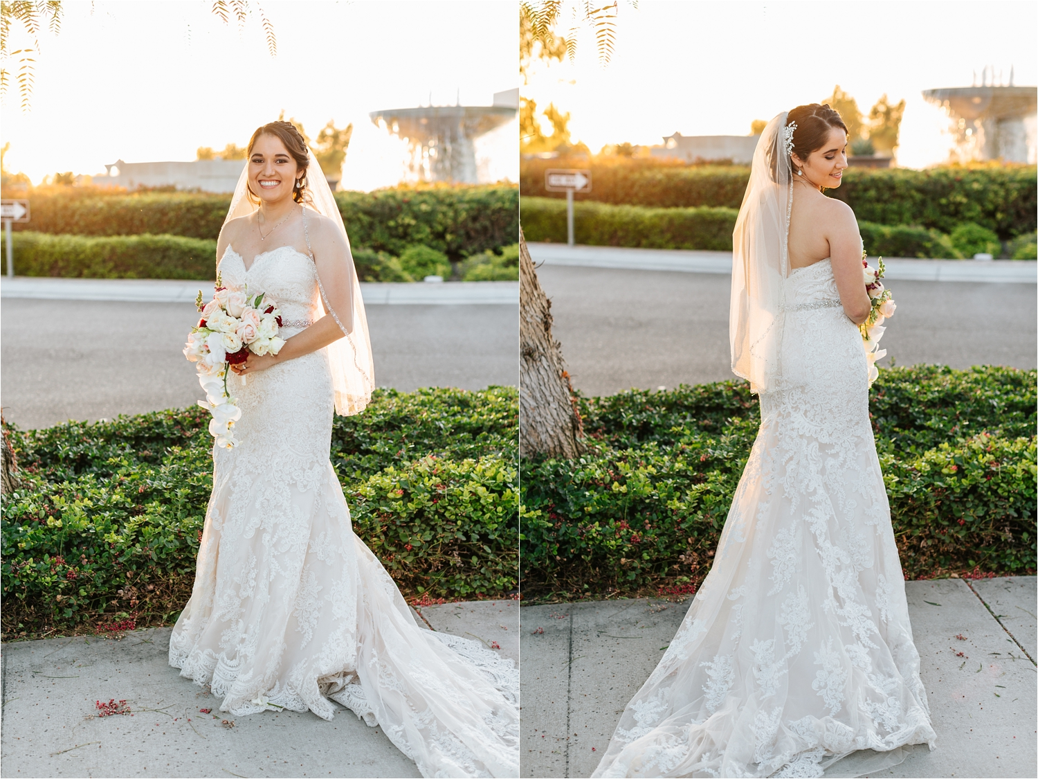 Bridal Portraits - Wedding Dress and Bouquet - https://brittneyhannonphotography.com