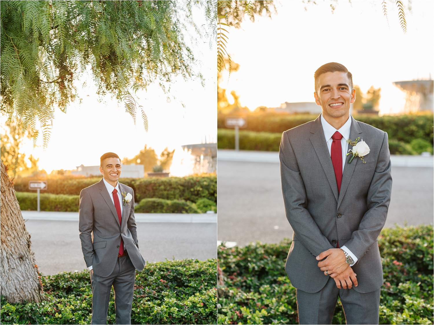 Groom Portraits at sunset - https://brittneyhannonphotography.com