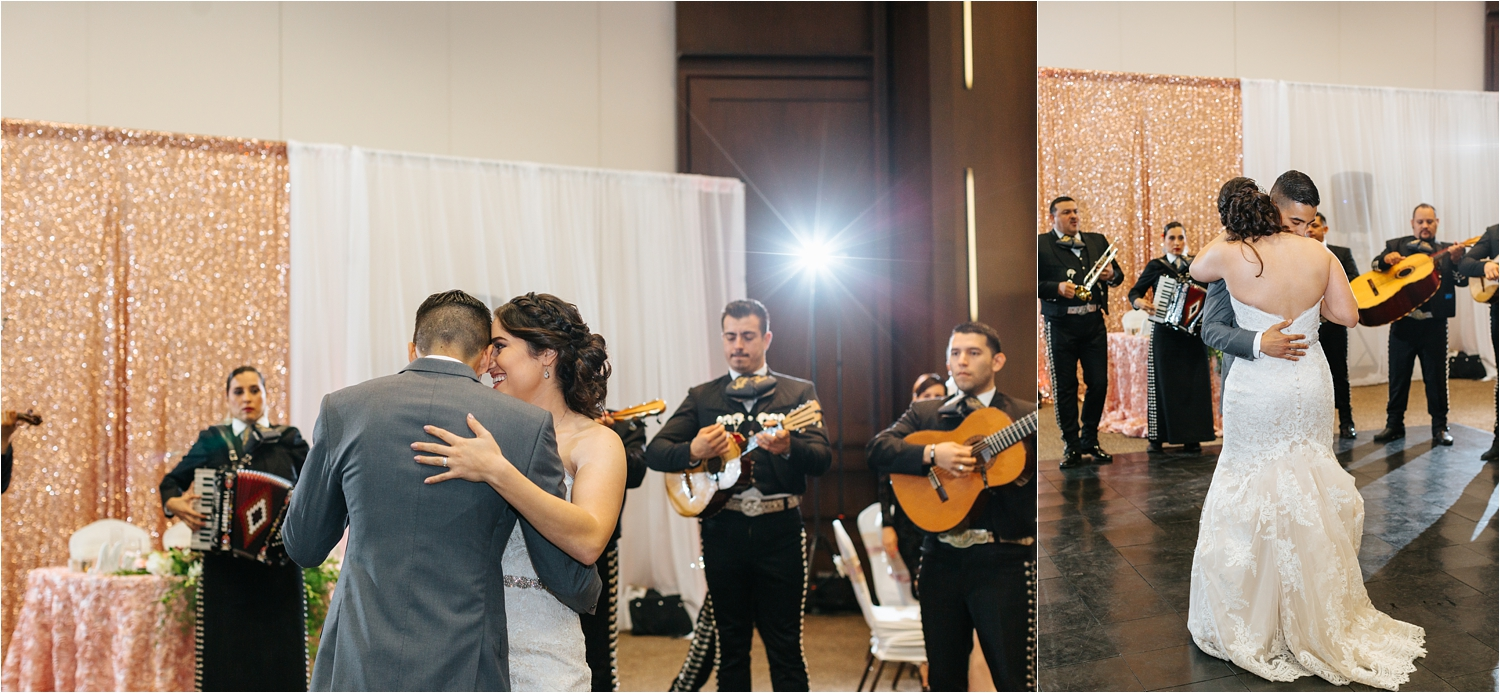 Bride and Groom's First Dance with Mariachi Music - https://brittneyhannonphotography.com