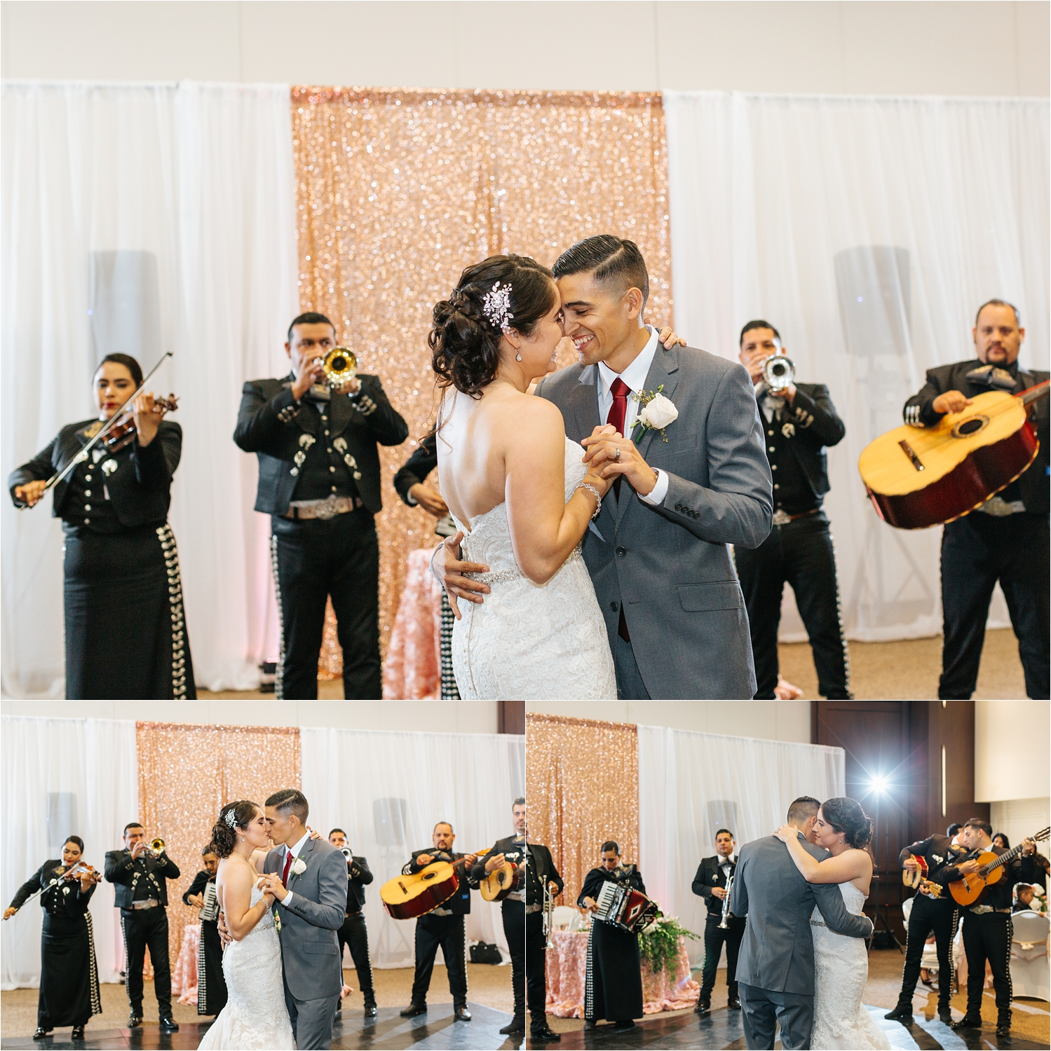 Bride and Groom First Dance - Chaffey College - https://brittneyhannonphotography.com