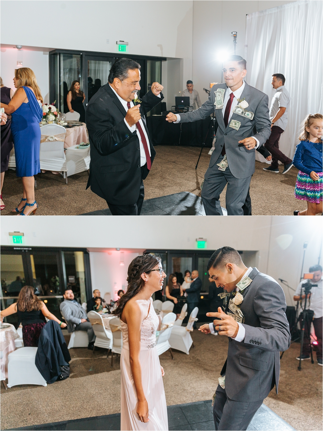 Money Dance at the wedding reception - https://brittneyhannonphotography.com