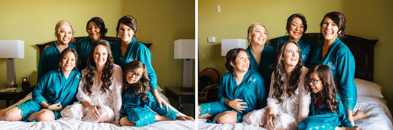 Bride and Bridesmaids Robe Picture - https://brittneyhannonphotography.com