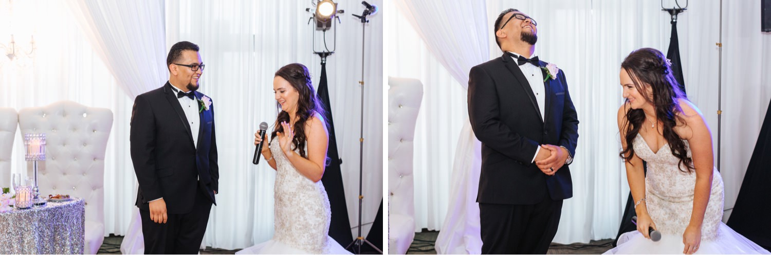 Bride raps for Groom - https://brittneyhannonphotography.com