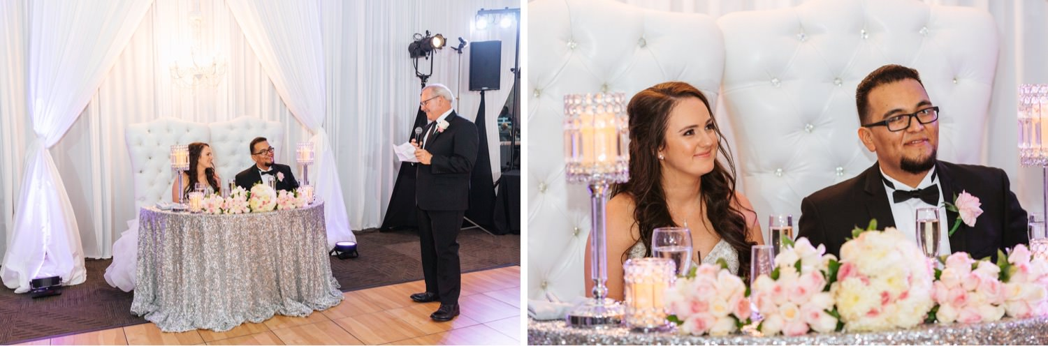 Wedding Reception at Chino Hills Community Center - Chino Hills Wedding Photographer - https://brittneyhannonphotography.com