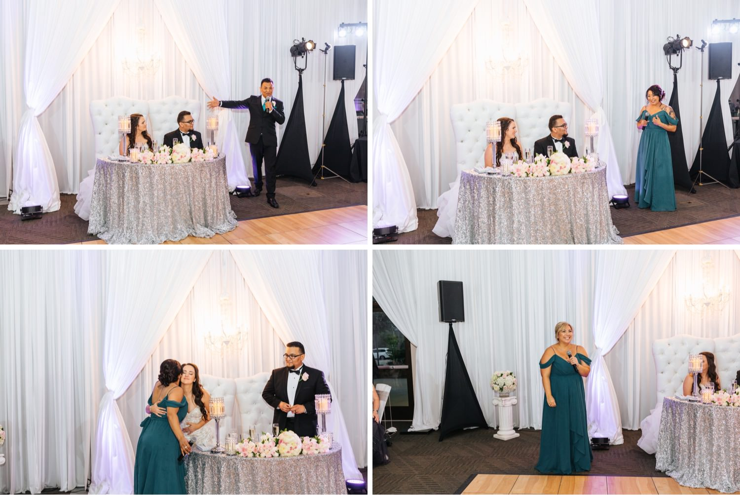 Wedding Toasts - Wedding Reception at Chino Hills Community Center - Chino Hills Wedding Photographer - https://brittneyhannonphotography.com