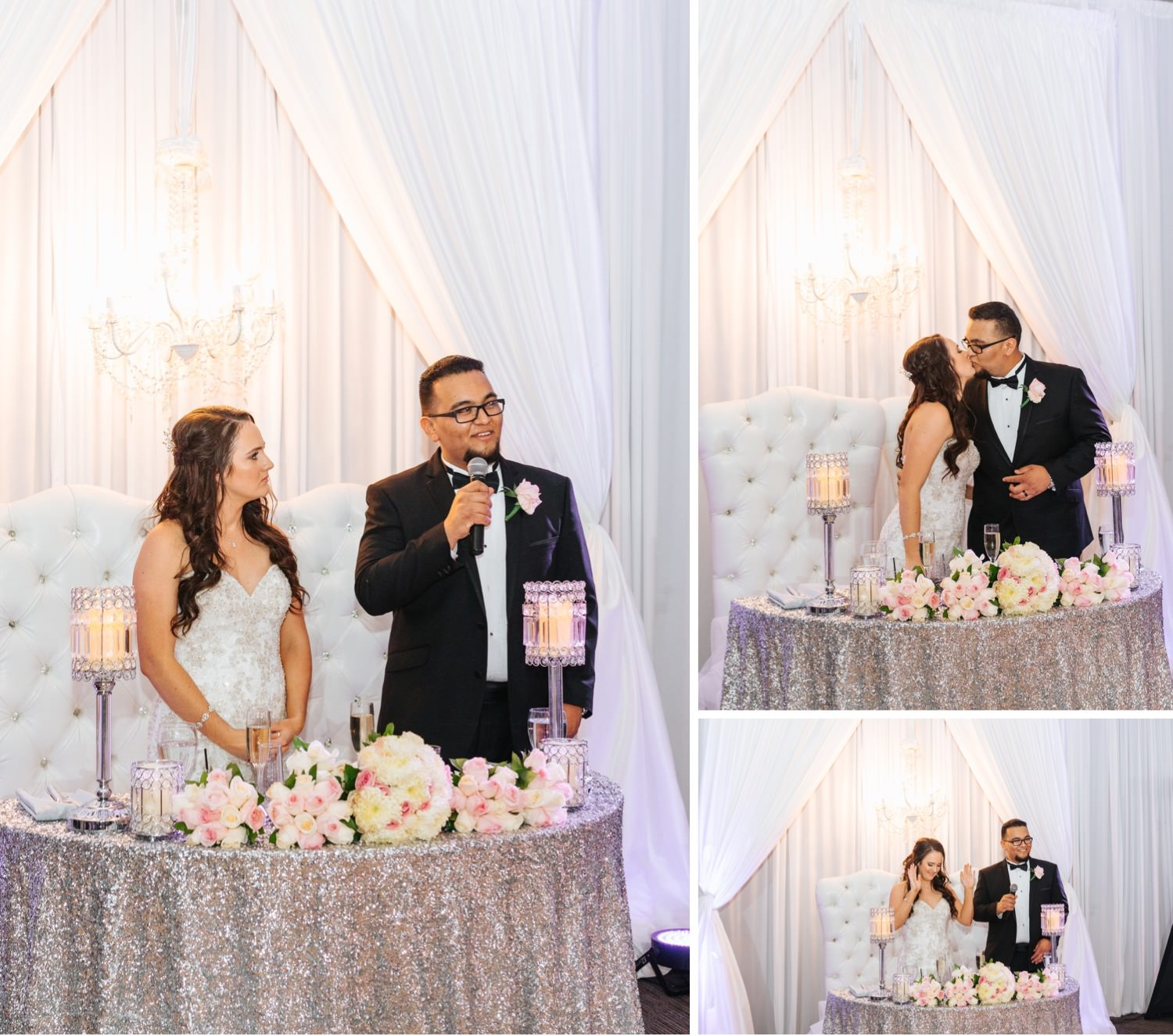 Thank you Speech by Bride and Groom - Wedding Reception at Chino Hills Community Center - Chino Hills Wedding Photographer - https://brittneyhannonphotography.com