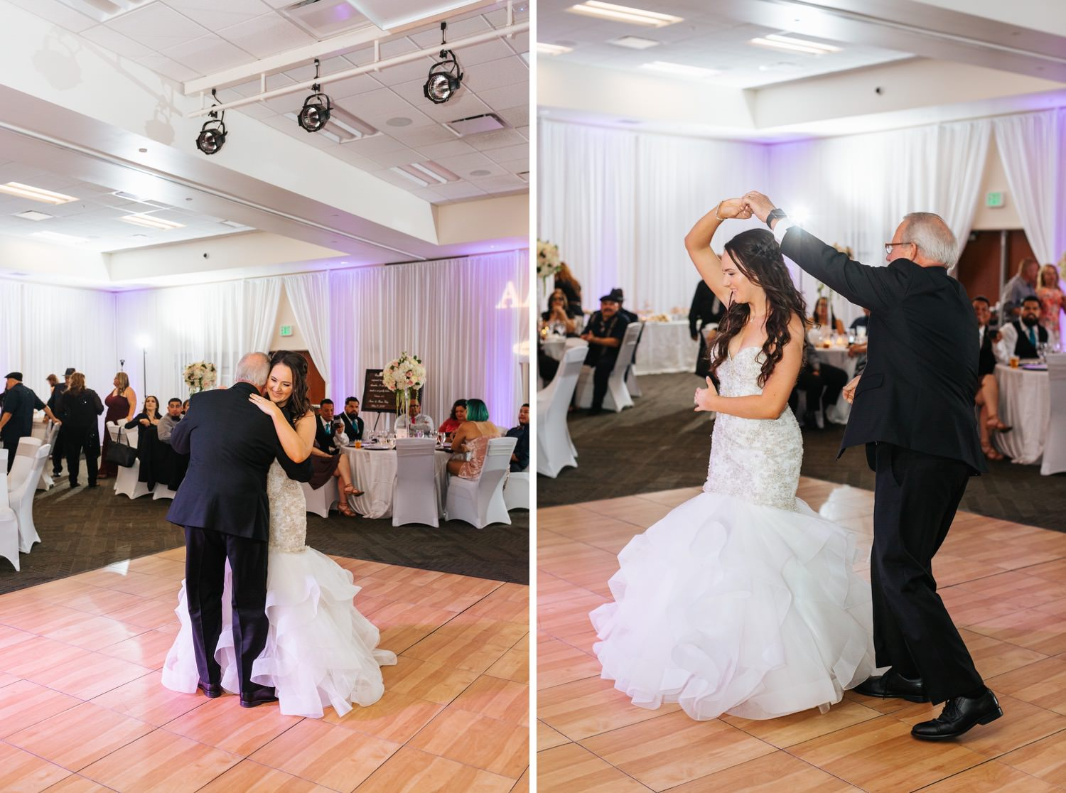Bride dances with her father - https://brittneyhannonphotography.com