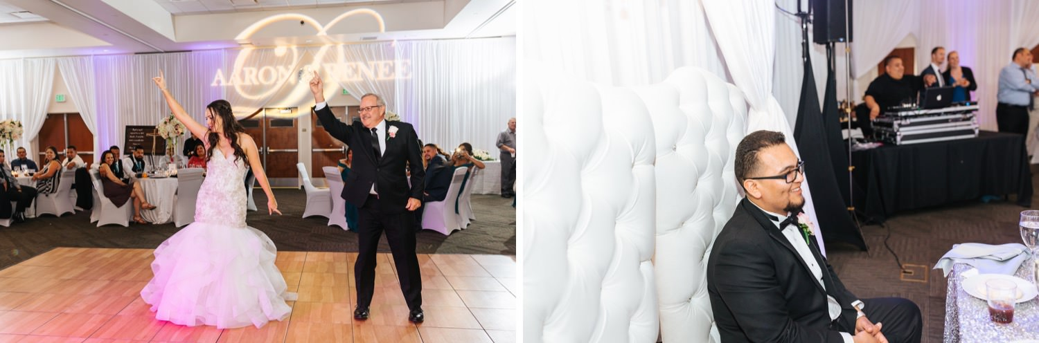 Surprise Dance between Bride and her dad - https://brittneyhannonphotography.com