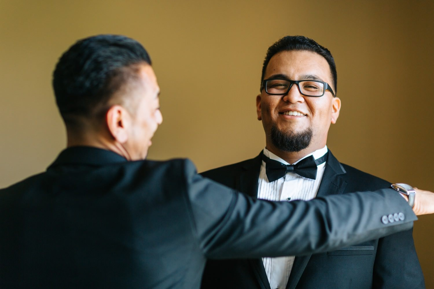 Groom and Best Man - https://brittneyhannonphotography.com