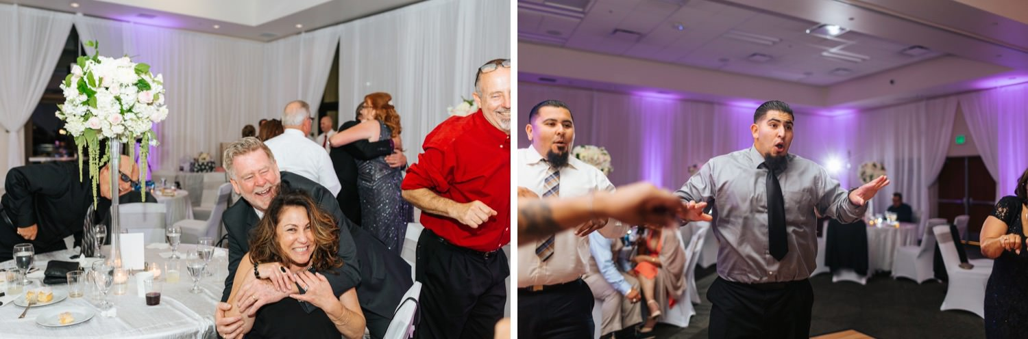 Guests dancing during Wedding Reception - https://brittneyhannonphotography.com