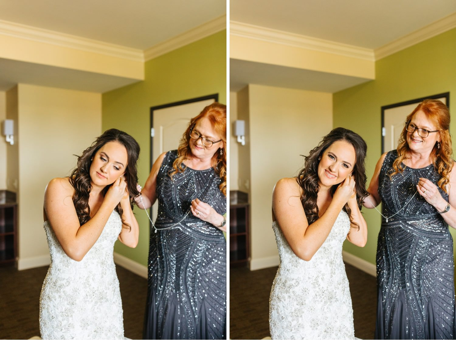 Bride putting on her jewelry - https://brittneyhannonphotography.com