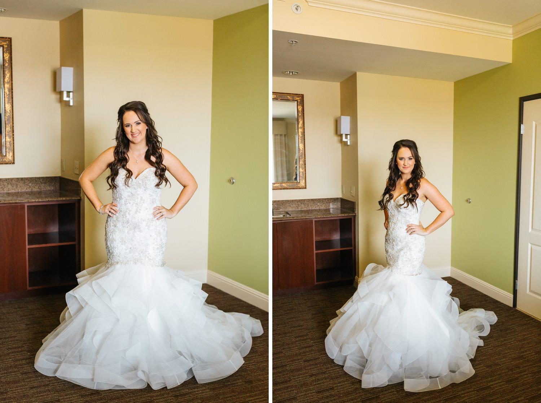 Bride in her wedding dress - https://brittneyhannonphotography.com