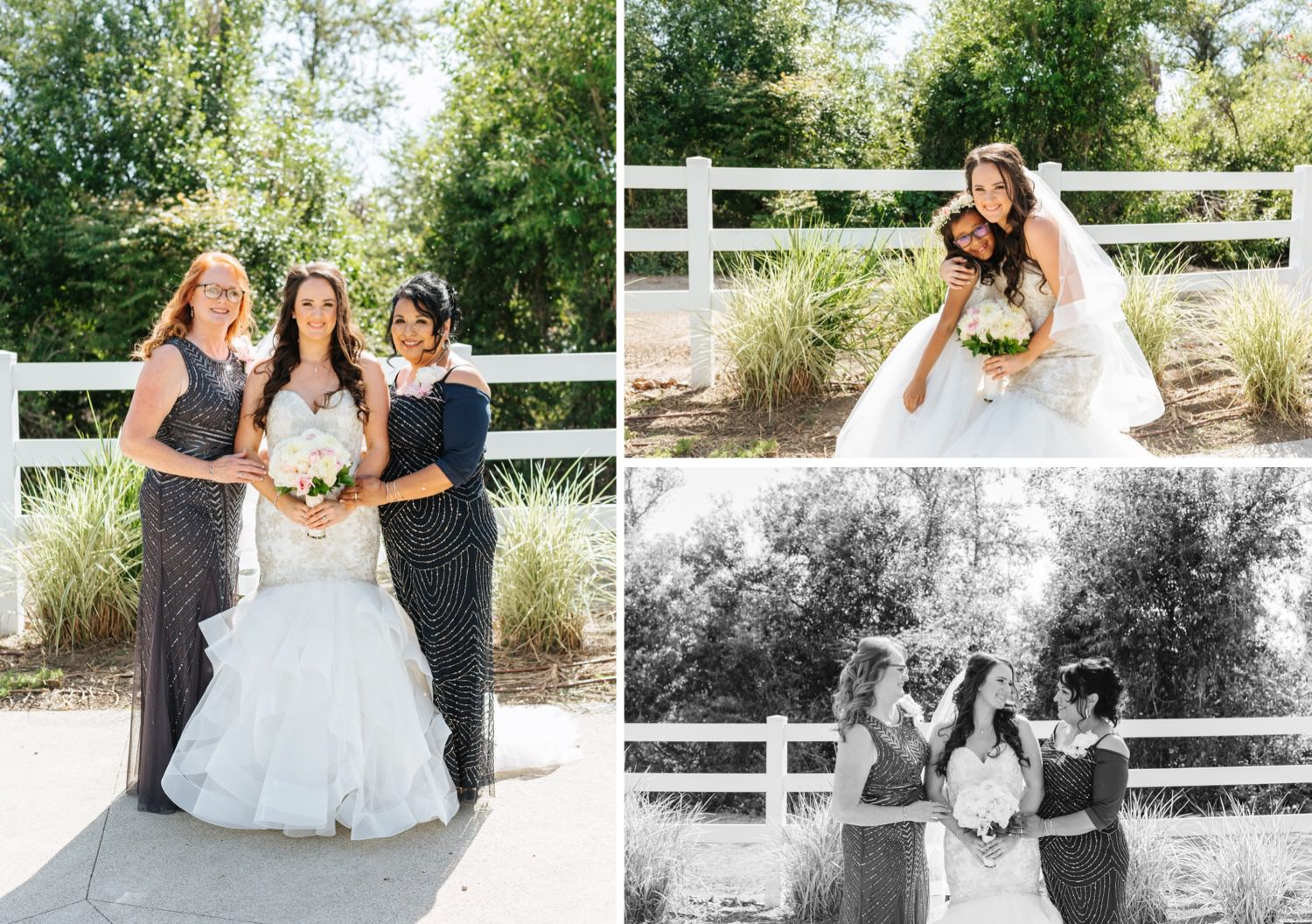 Bride with her mom and mother in law - https://brittneyhannonphotography.com