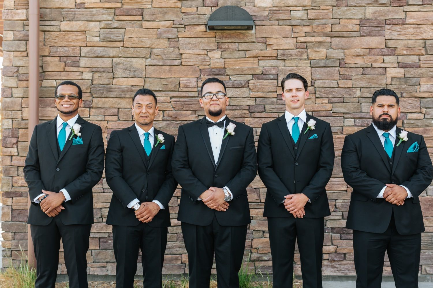 Groom and Groomsmen - Chino Hills Wedding - https://brittneyhannonphotography.com