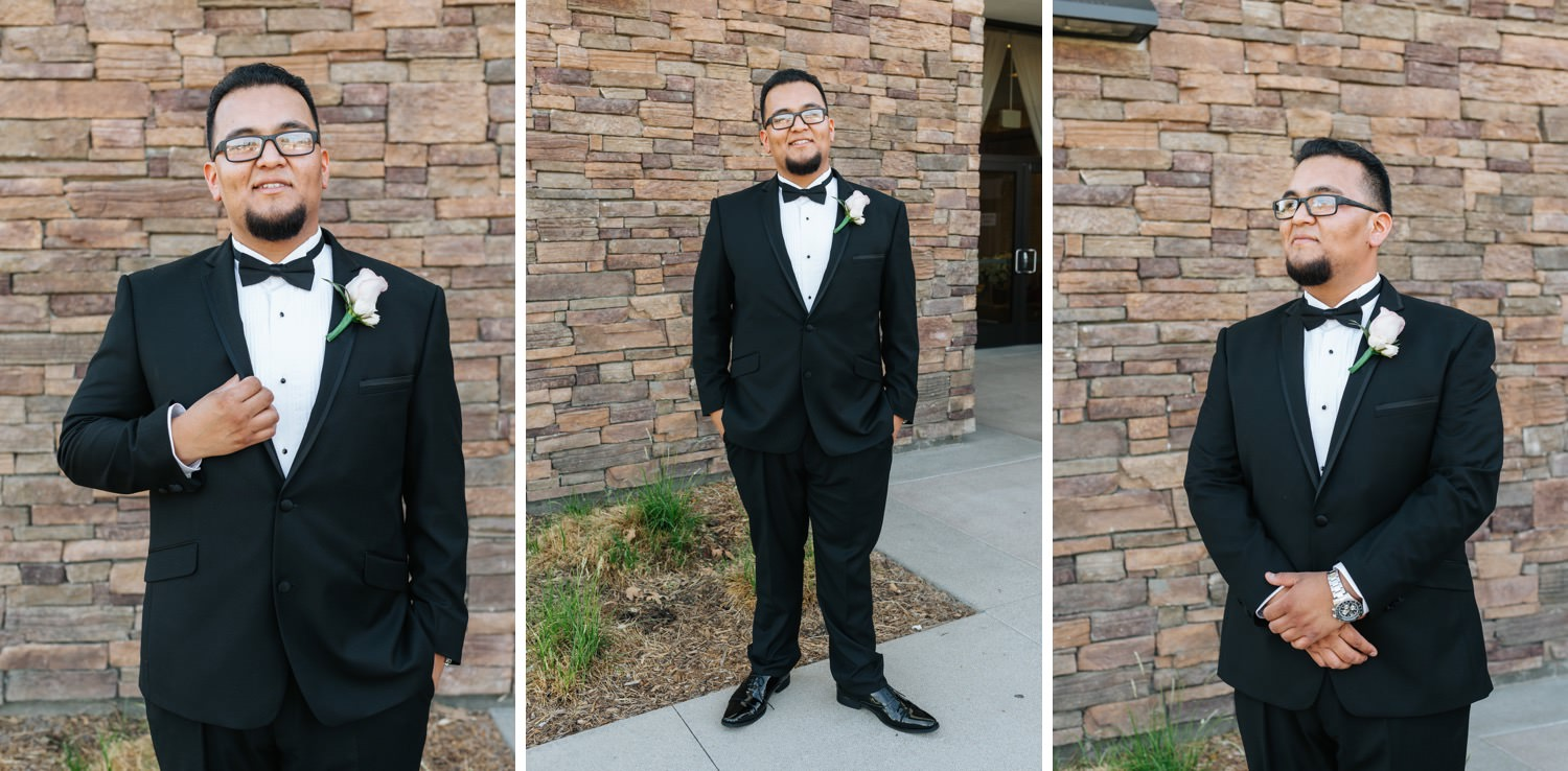 Chino Hills Community Center Wedding - Groom Portraits - https://brittneyhannonphotography.com