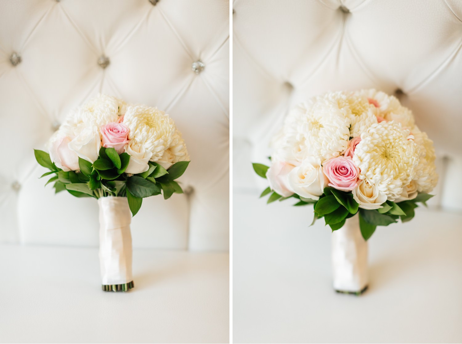 Pink and White Bouquet - https://brittneyhannonphotography.com