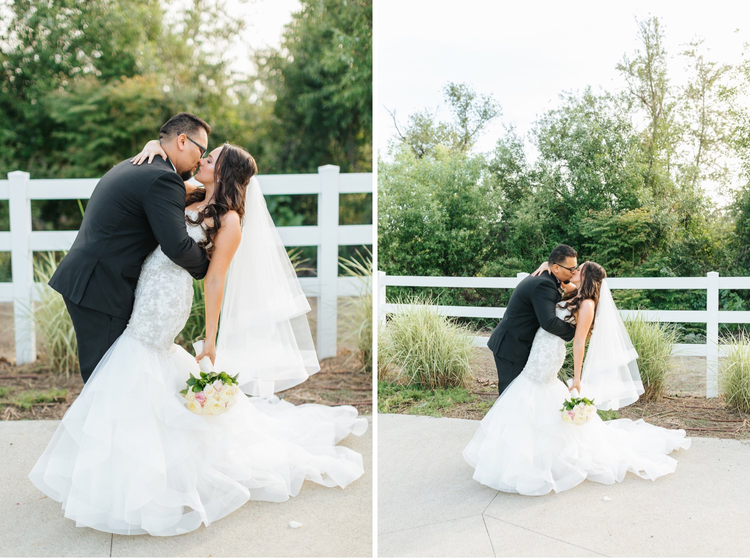 Groom dipping the bride - https://brittneyhannonphotography.com