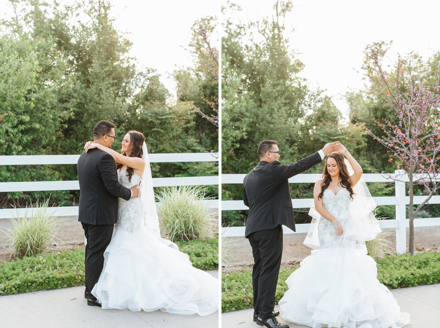 Groom spins his bride while they dance - https://brittneyhannonphotography.com