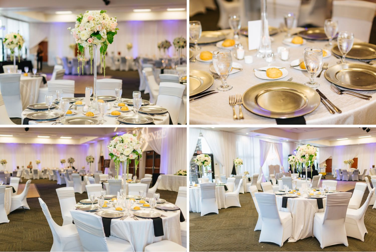 Reception Details and Decor at Chino Hills Community Center - https://brittneyhannonphotography.com