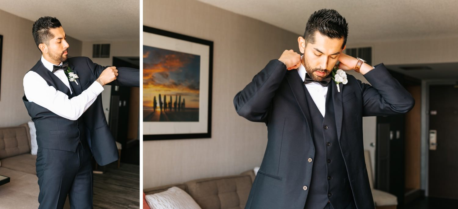 Groom Details and getting ready photos - Los Angeles - Wedding Photographer - https://brittneyhannonphotography.com