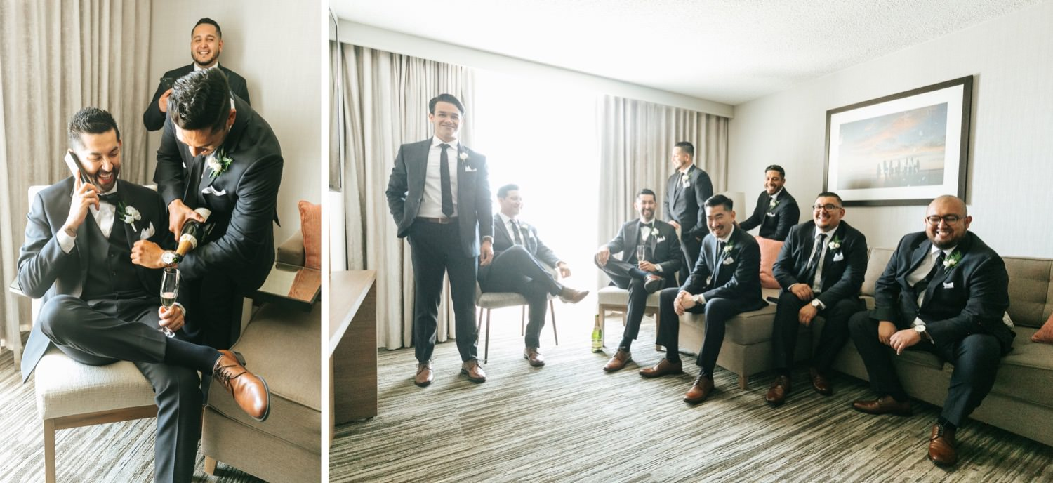 Groom + Groomsmen and getting ready photos - Los Angeles - Wedding Photographer - https://brittneyhannonphotography.com
